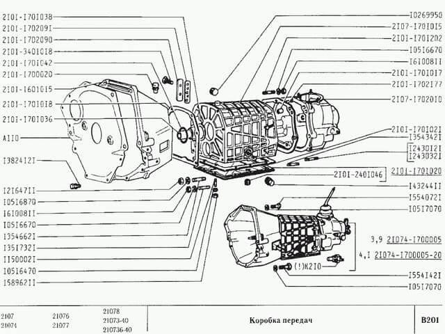 схема коробки передач